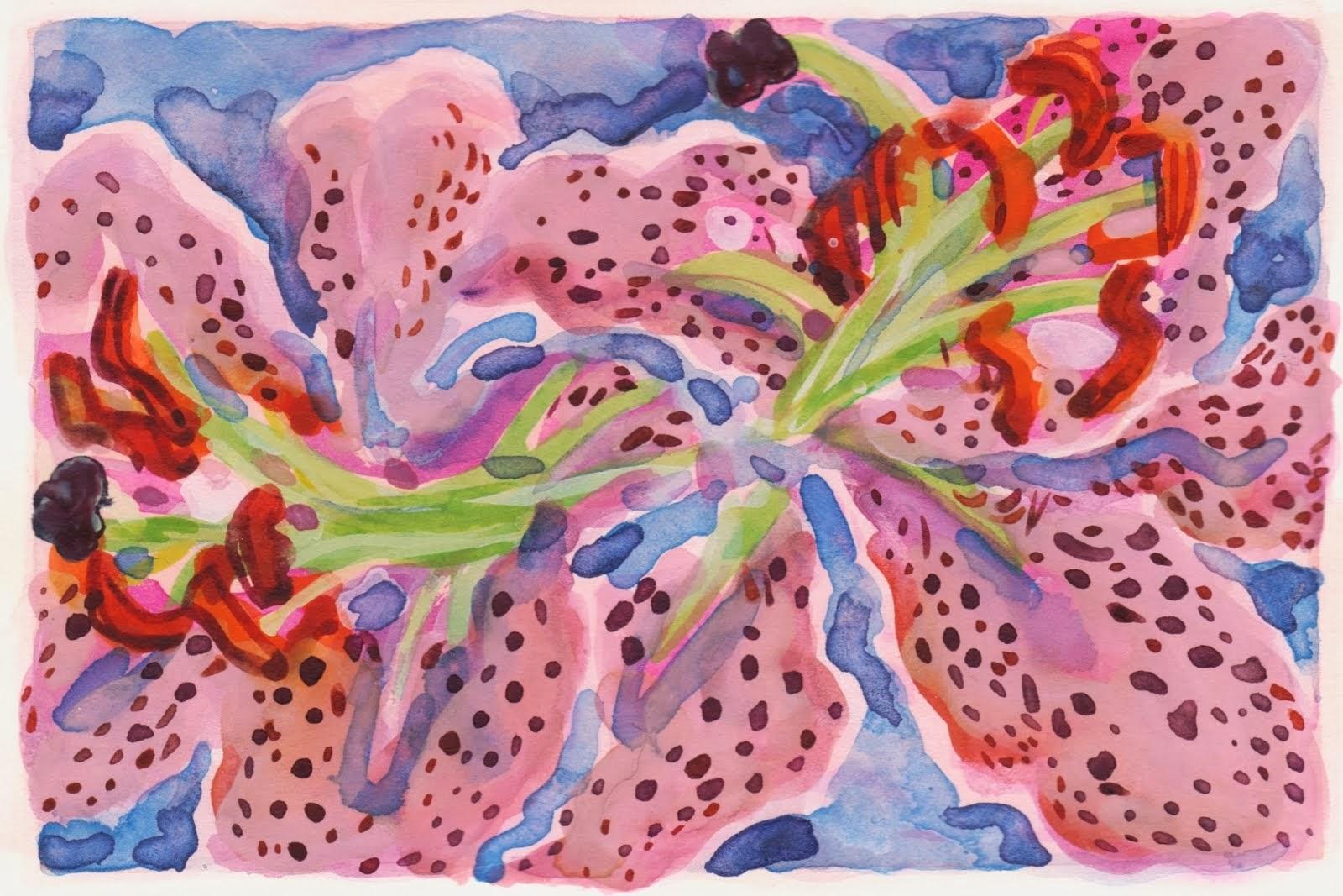 Two Stargazer Lilies