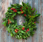 Color your holiday with Christmas wreath image1