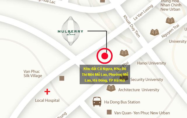 vị trí mulberry lane hà đông