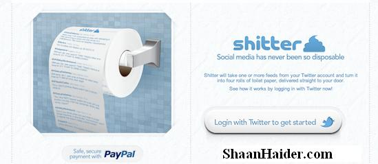 Twitter Toilet Papers from Shitter