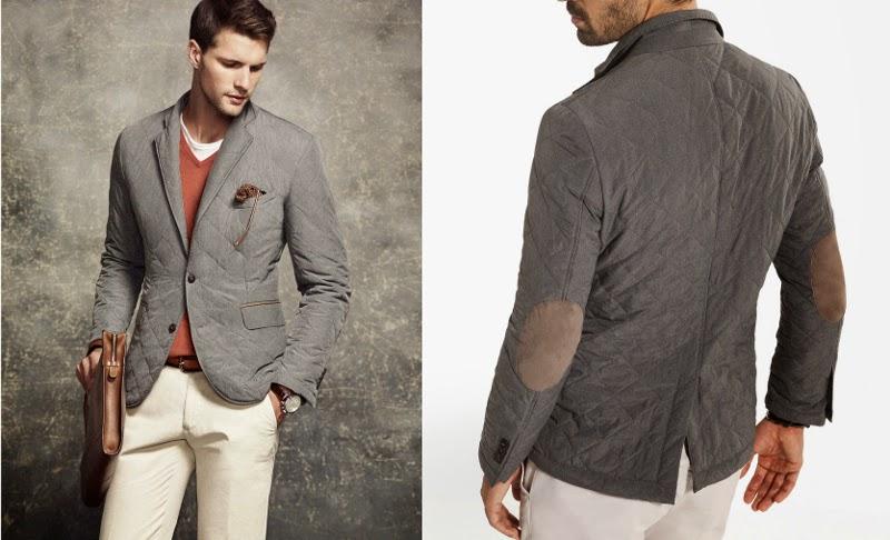 chaqueta gris de massimo dutti