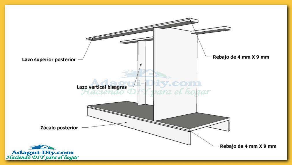 Como hacer muebles de cocina plano mueble bajo mesada de melamina