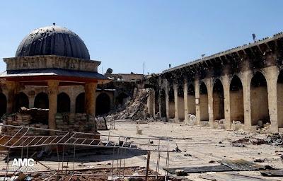 Keadaan Masjid Umayyad Yang Dimusnahkan Tentera Bashar Al Assad