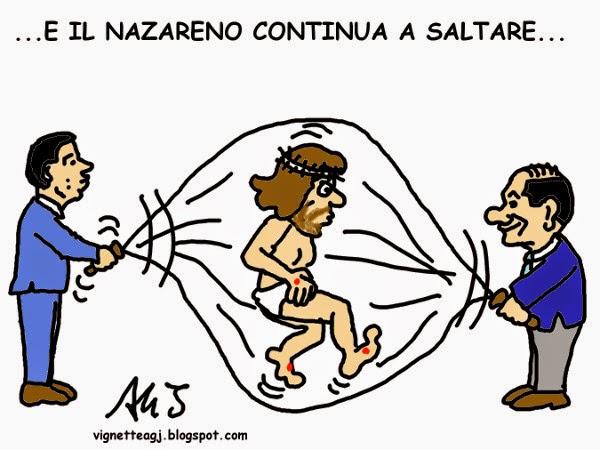 renzi, berlusconi, patto del nazareno, satira, vignetta