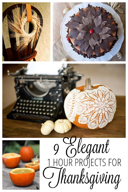 9 Simple Elegant Thanksgiving Crafts and DIY Projects for your table.| http://www.makeithandmade.com/2013/11/9-diy-thanksgiving-crafts-for-you.html