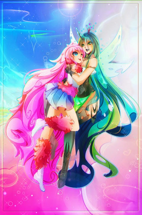 Fluffle Puff and Chrysalis