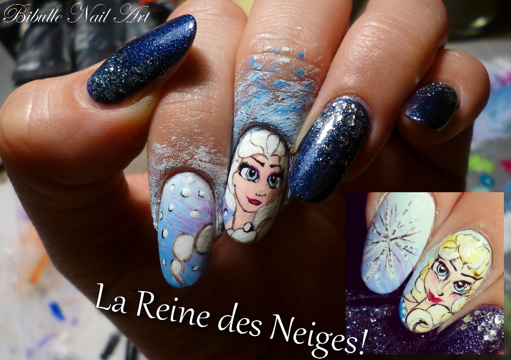 Nail Art Disney - La Reine des Neiges ! (Frozen) - Bibulle Nail Art