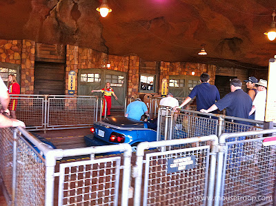 Radiator Springs Racers station platform loading
