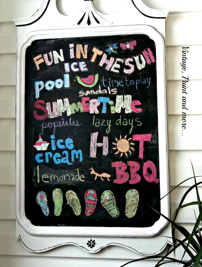 Vintage, Paint and more... summer fonts for chalkboard, chalkboard painted mirror, vintage mirror turned into chalkboard