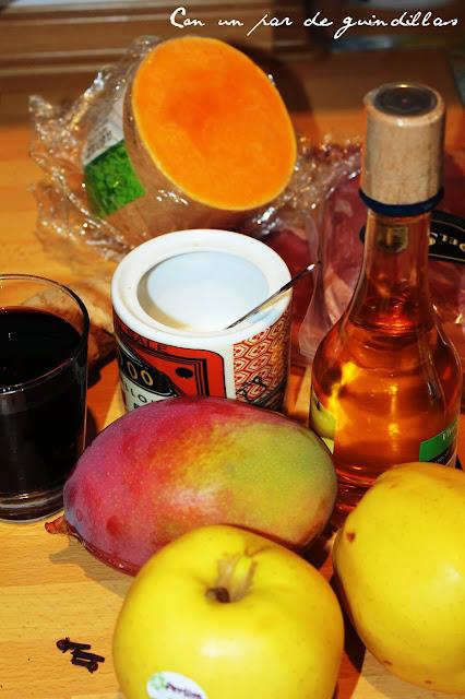 Ingredientes magret de pato con confitura de mango y chips de calabaza