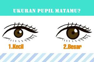 Mata, Pupil, kepribadian seseorang