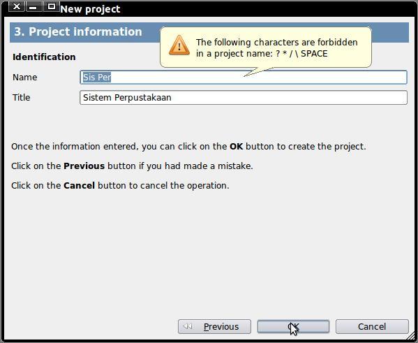 tutorial membuat project baru gambas2