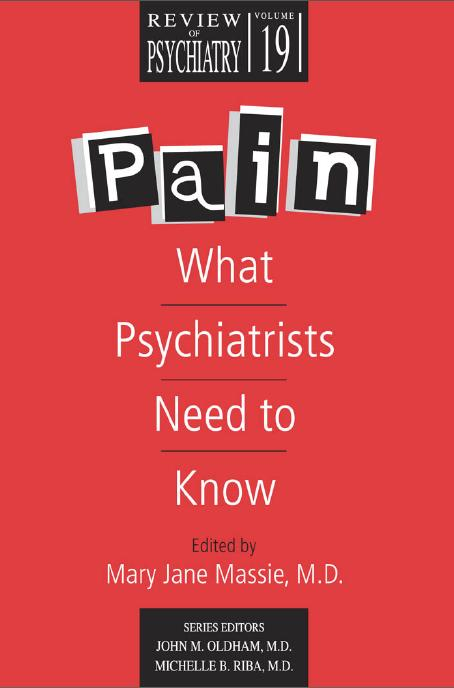 pictures of psychiatrists. Pain: What Psychiatrists Need