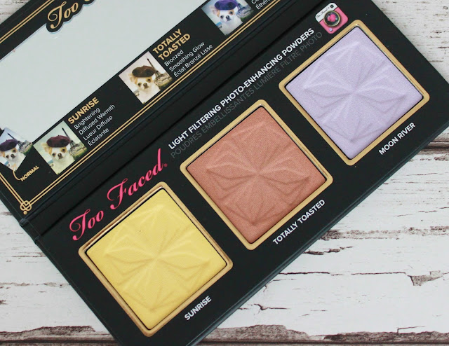 Too Faced Selfie Powders palette close up