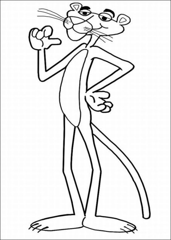pink panther show coloring pages