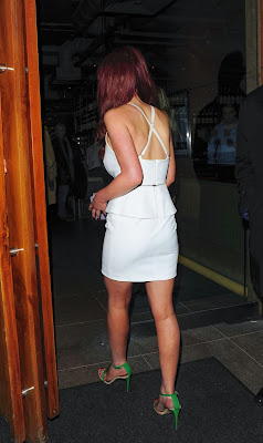 Helen Flanagan looking hot flaunt cleavage in white mini dress at London