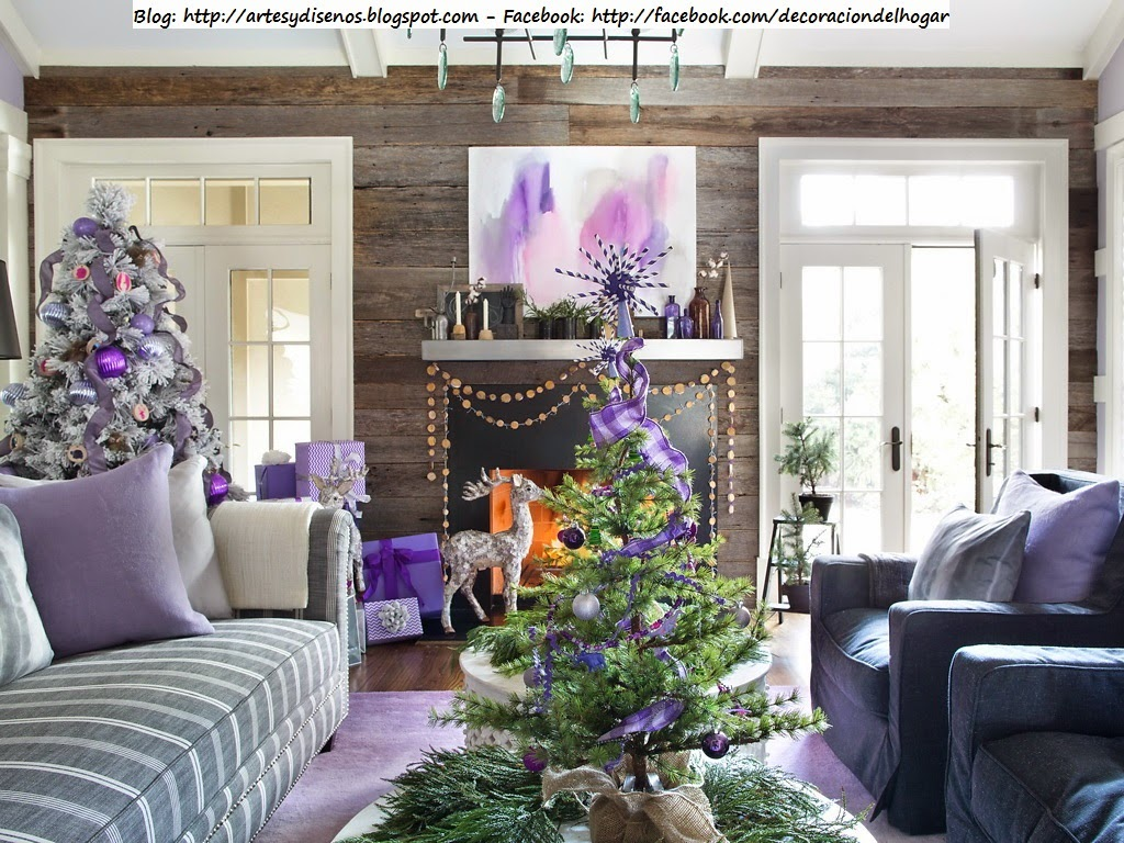 Decorar la Casa para Navidad con Tonos Lila Violeta by artesydisenos.blogspot.com