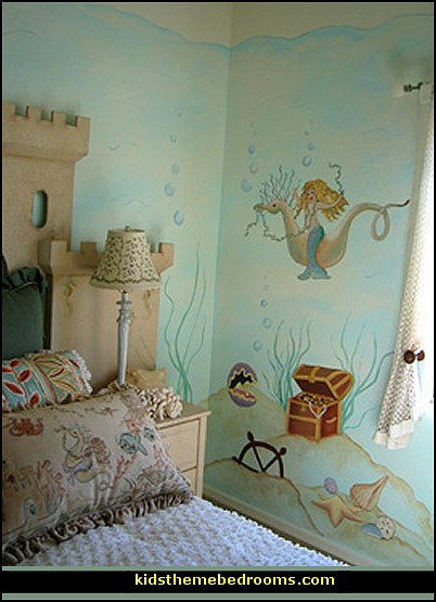 mermaid theme bedroom decorating ideas and mermaid theme decor - Ideas For Bedroom Decorating Themes