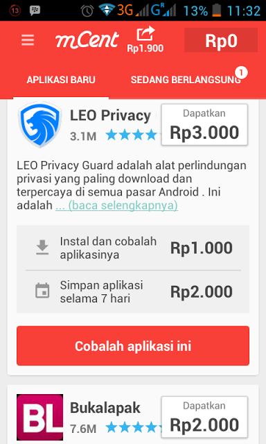 Senang download Aplikasi Android, berikut ada peluang dapat pulsa gratis