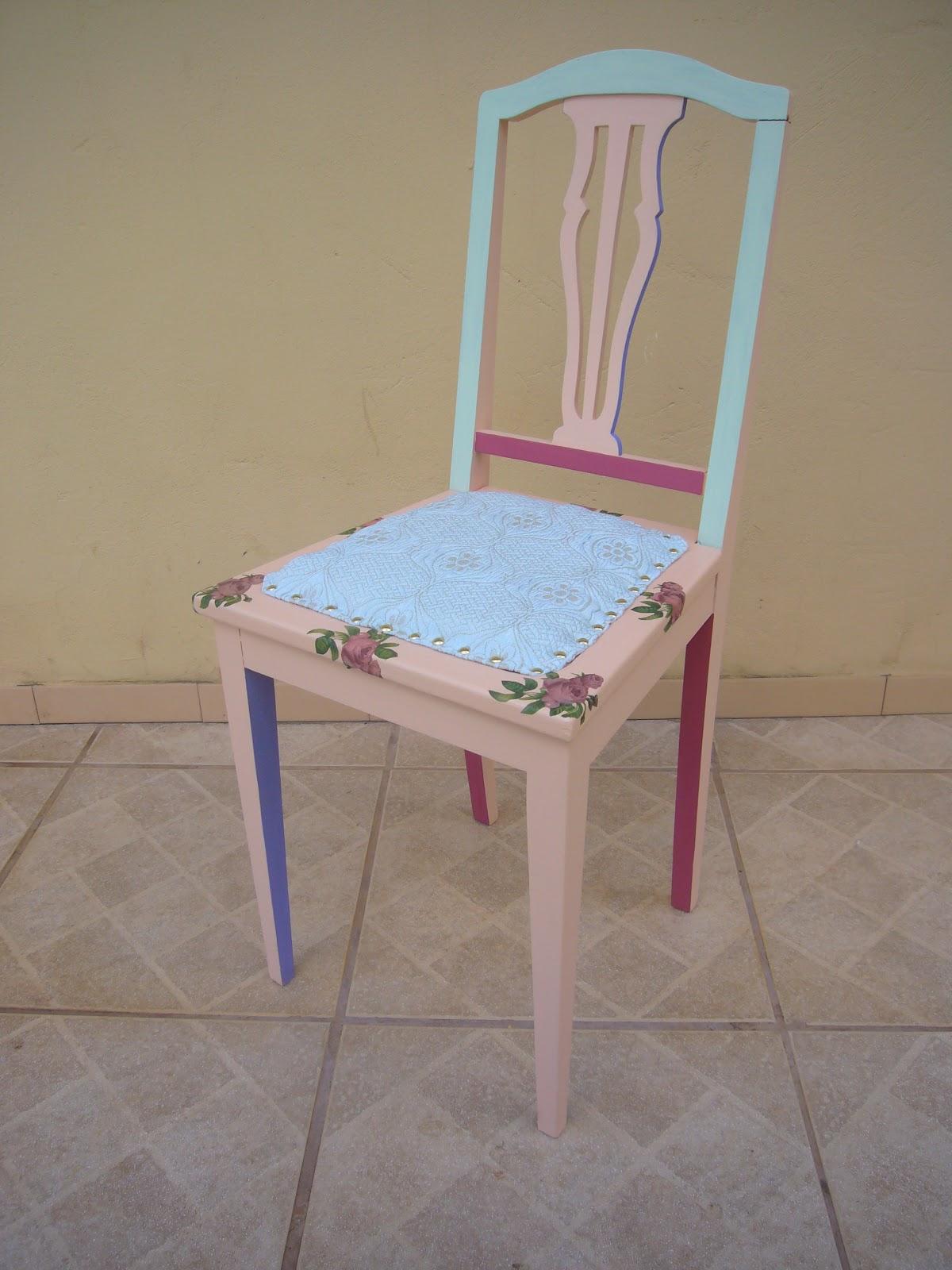 Pintura decoupage e assento estofado com tecido. #713645 1200x1600