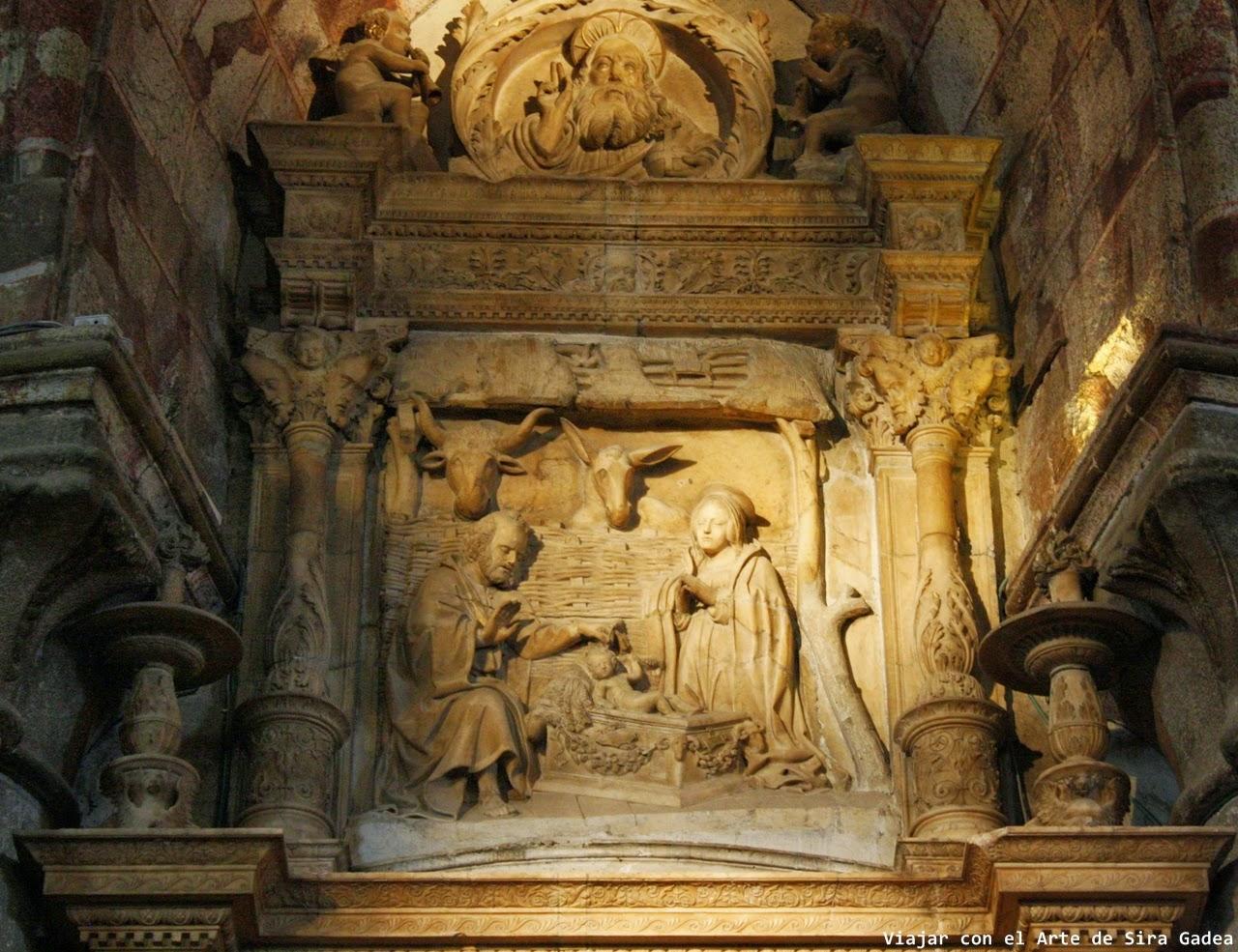 Tostado Trasaltar Catedral Ávila Natividad