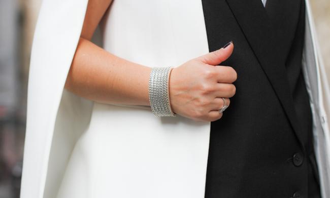 silver chain cuff bracelet
