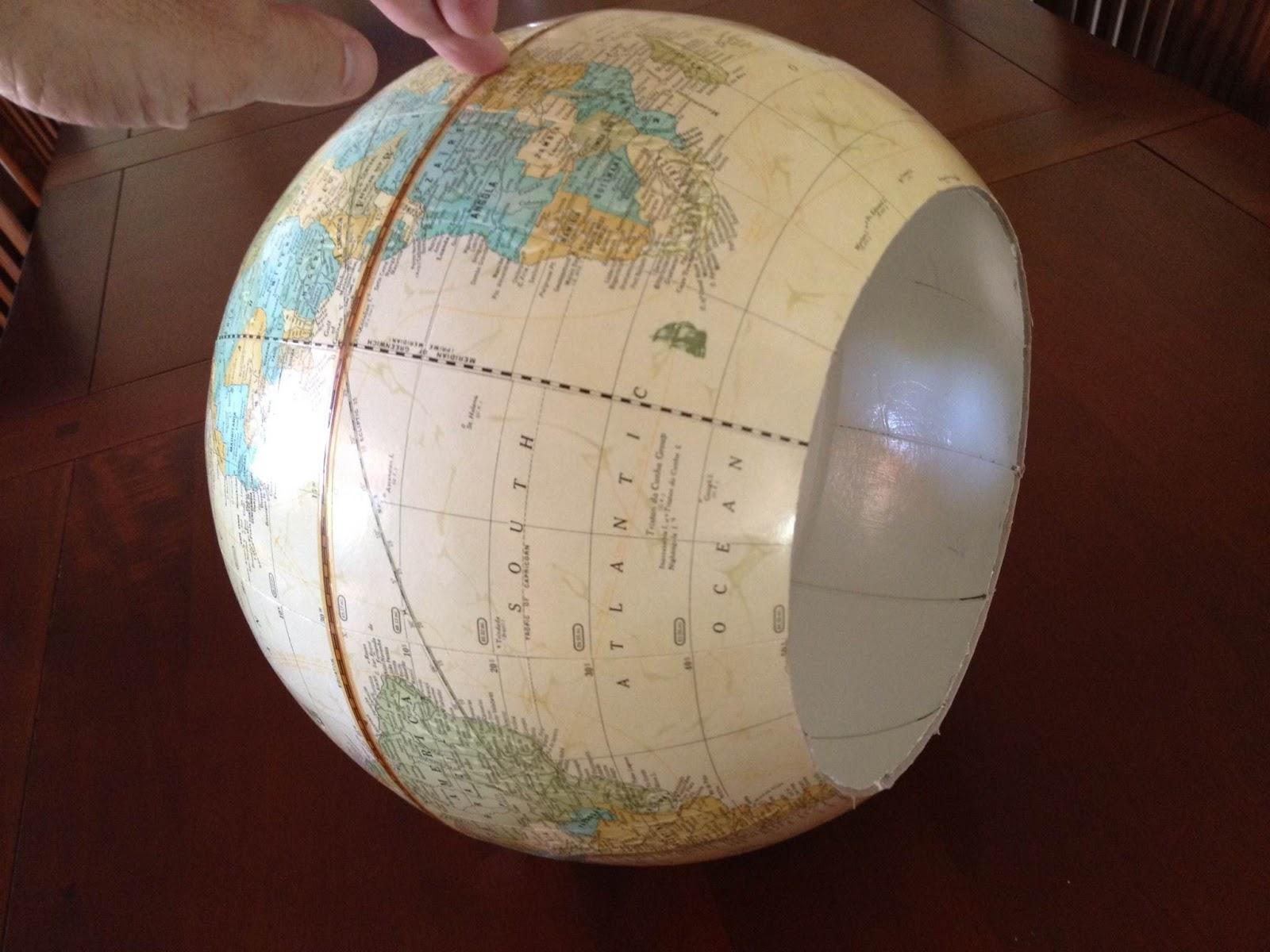 Greener Lives: The best DIY world globe pendant light