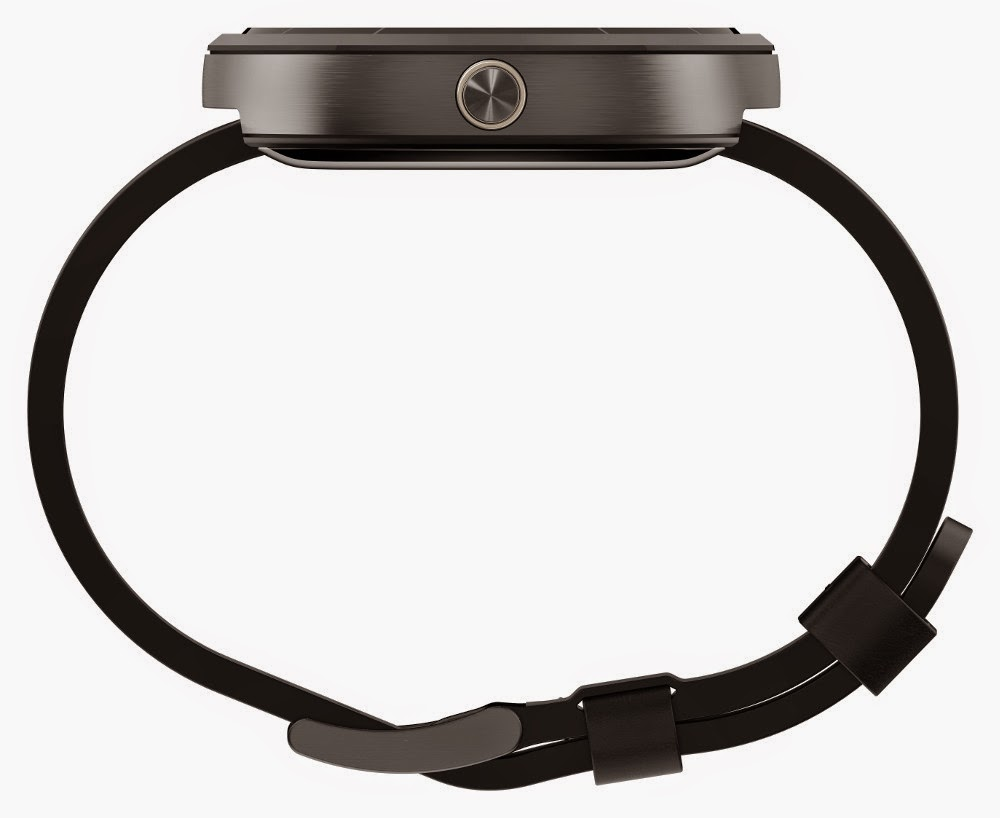 Motorola Moto 360 Side View Black