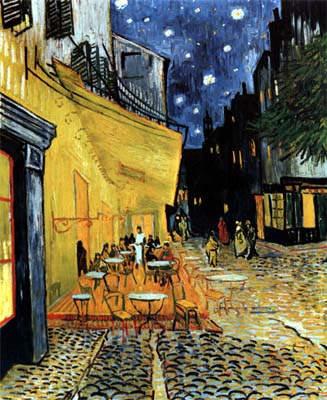 café de noche, exterior, Van Gogh