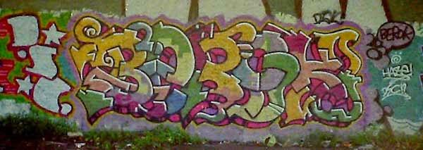 Graffiti letras Barcelona vieja escuela