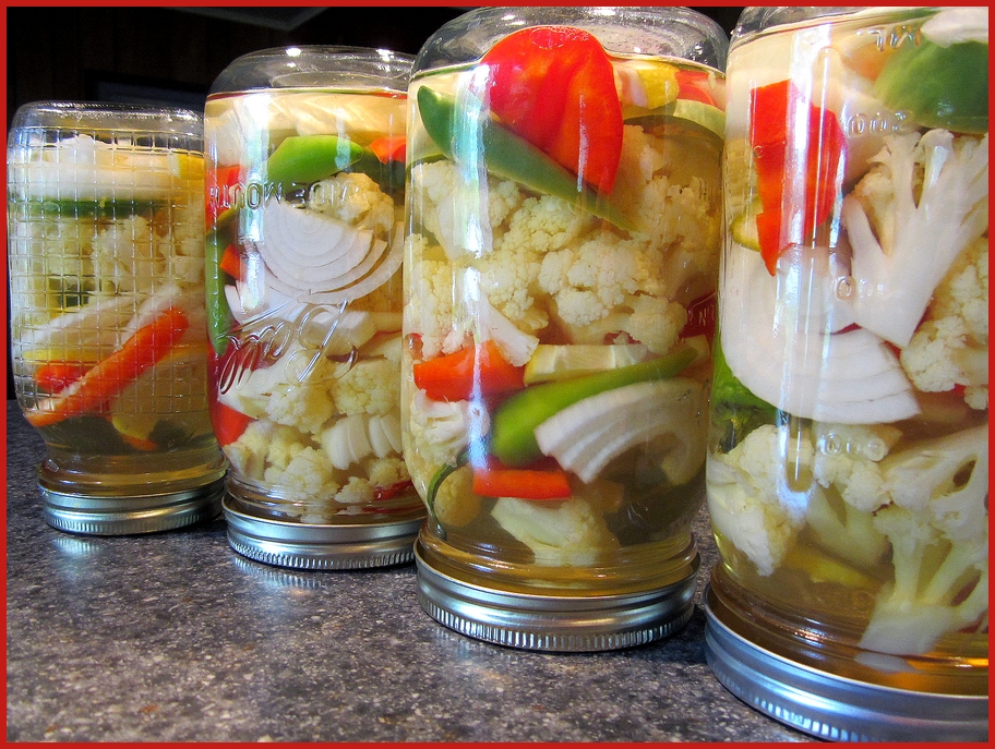 Fat Johnny's Front Porch: Homemade Pickled Cauliflower Mix