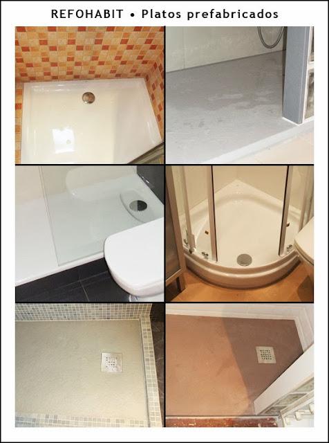 Tipos y materiales de los diferentes platos de ducha prefabricados, cambios de bañera por plato de ducha.