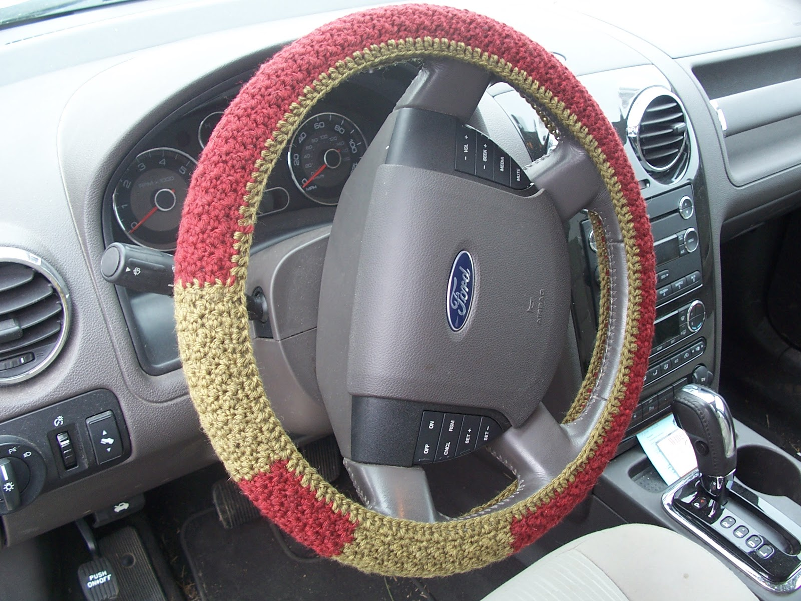 Life gets in the way of my Knitting!: Steering Wheel Cover (free ...