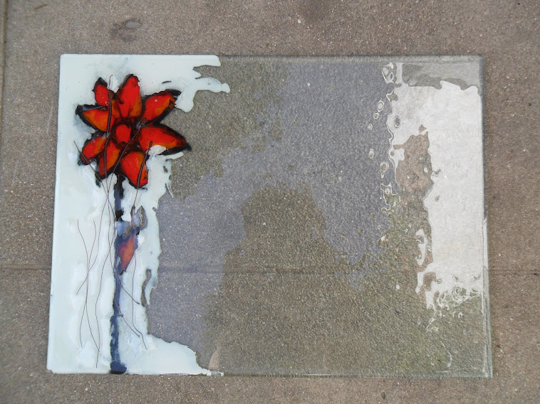 vidro con detalle pintado