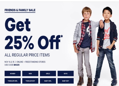 Joe Fresh Friends & Family Event 25% Off Promo Code