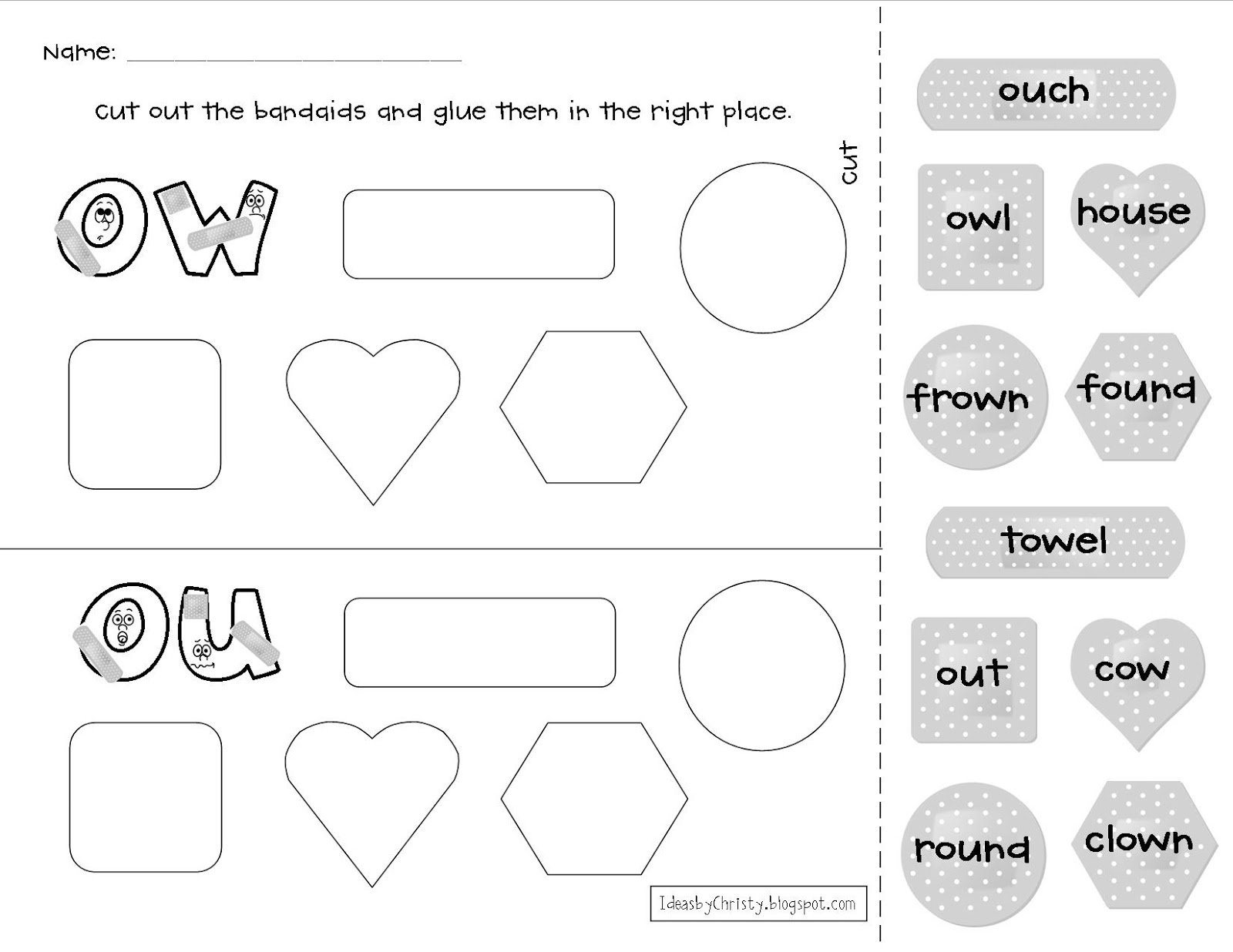 Printables Ou Ow Worksheets ow word family worksheets abitlikethis magic e search phonics ai and ay long word