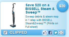 Save $20 on a BISSELL Steam and Sweep