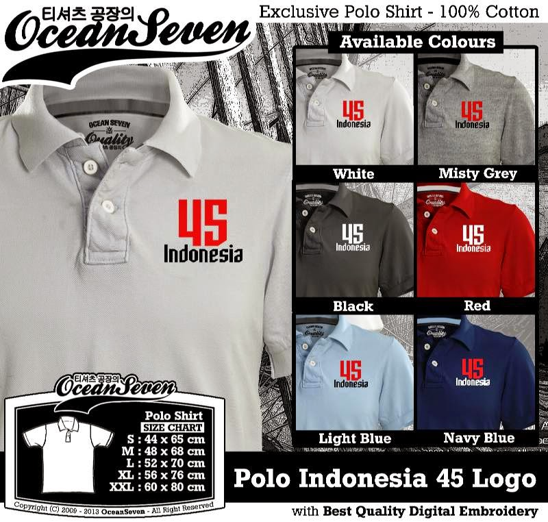 Kaos Polo Indonesia 45 Logo