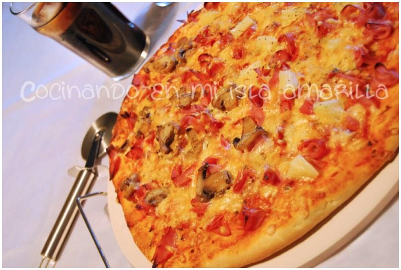 receta masa de pizza casera crujiente