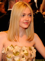 Dakota Fanning Alexander McQueen Savage Beauty Costume Institute Gala