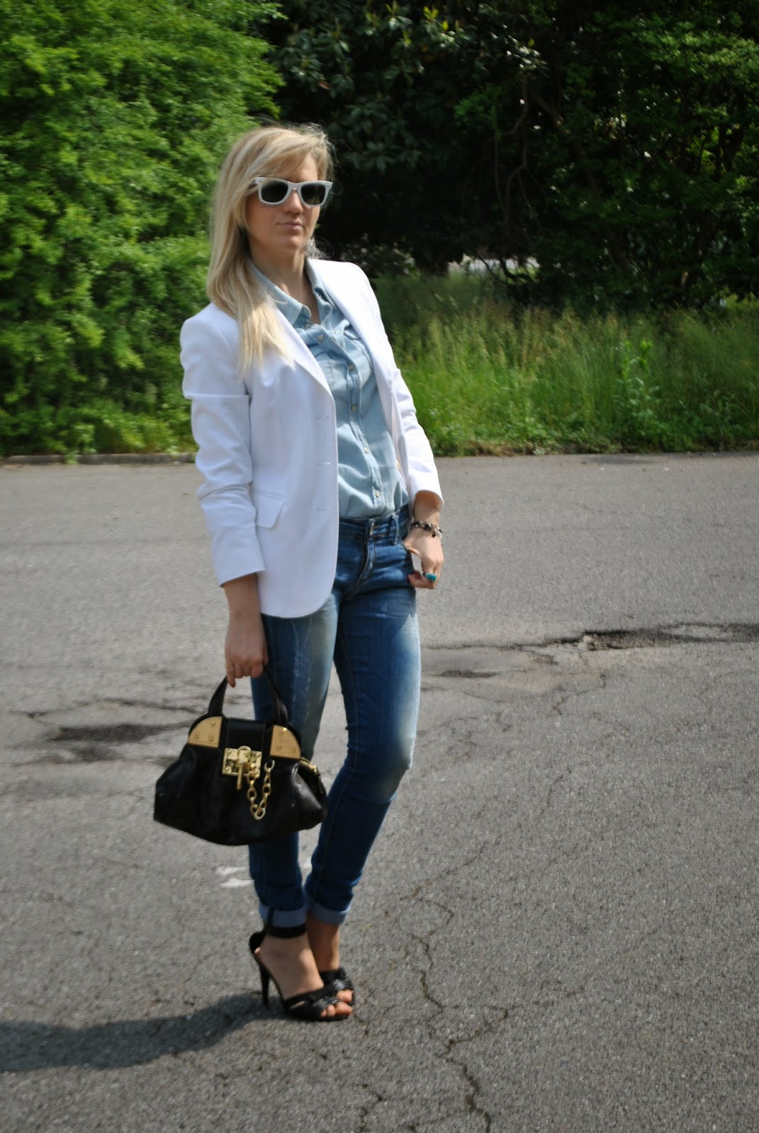 denim total look outfit ispirato olivia palermo mariafelicia magno fashion blogger colorblock by felym milano fashion blog italiani blogger italiane di moda blog di moda italiani  outfit jeans e tacchi abbinamenti jeans e tacchi outfit jeans skinny outfit blazer bianco come abbinare il blazer bianco abbinamenti blazer bianco mariafelicia magno fashion blogger colorblock by felym outfit primaverili donna outfit maggio 2015 outfit jeans skinny total look denim denim total look come abbinare la camicia jeans abbinamenti camicia jeans come abbinare la camicia in denim abbinamenti camicia denim fashion blog italiani milano blog di moda fashion bloggers italy spring outfit jeans and heels white blazer skinny jeans olivia palermo outfit ispirato olivia palermo denim total look girls blonde hair blonde girls blondie fornarina luca barra braccialini