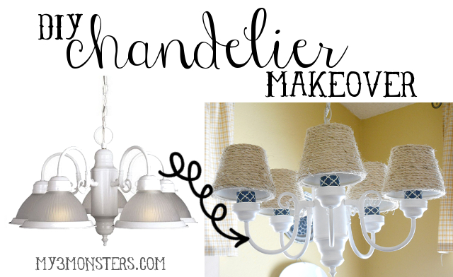 My 3 monsters diy chandelier makeover diy chandelier makeover aloadofball Gallery