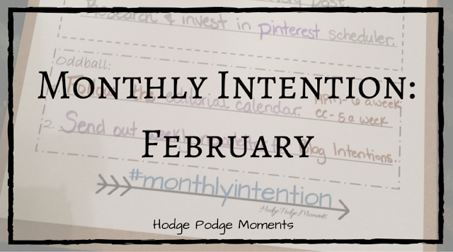 Monthly Intention: February 2016