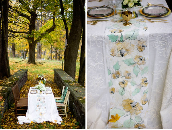 table Paper Lane:  a vintage Party runners Runners: Wrapping Gorgeous   Juneberry on Table A