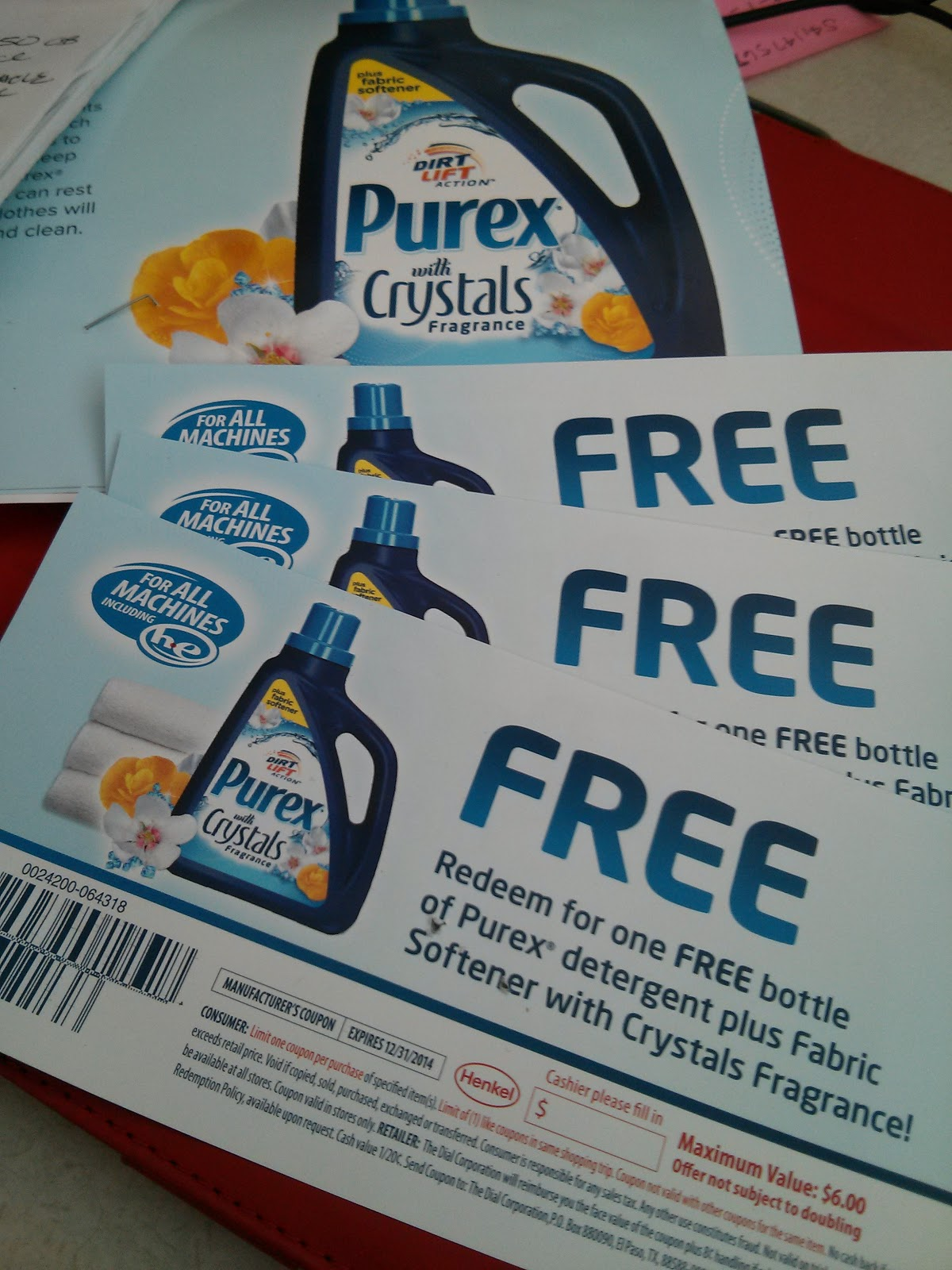 Purex crystals coupons