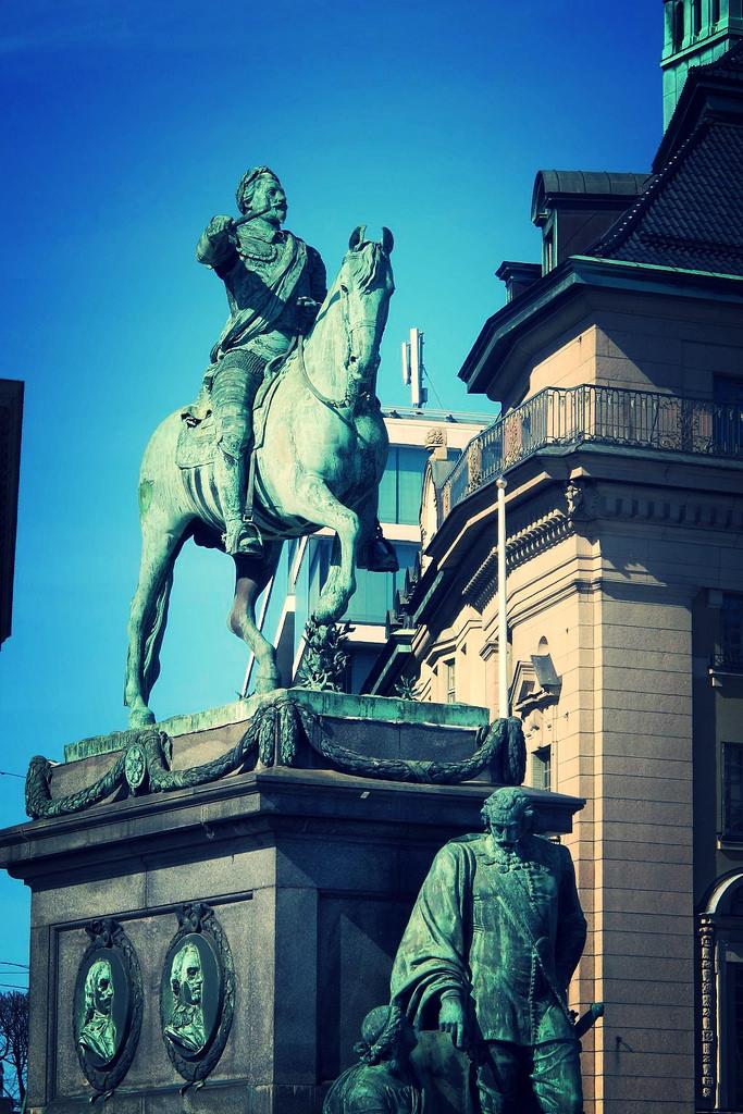 Gustav II Adolf Equestrian statue 1796. Photo by susan wellington