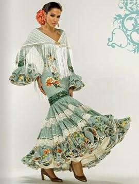 moda flamenca El Corte Inglés traje canastero de lunares