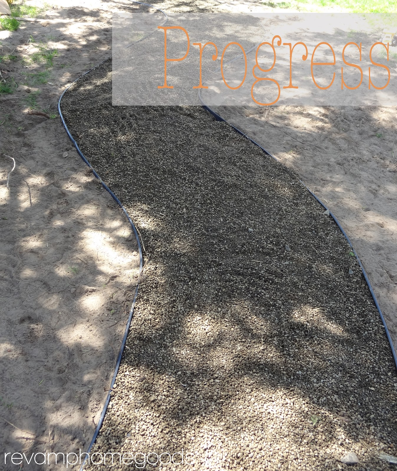 Pea Rock Walkway Plank On : Budget friendly landscaping diy pea gravel pathway