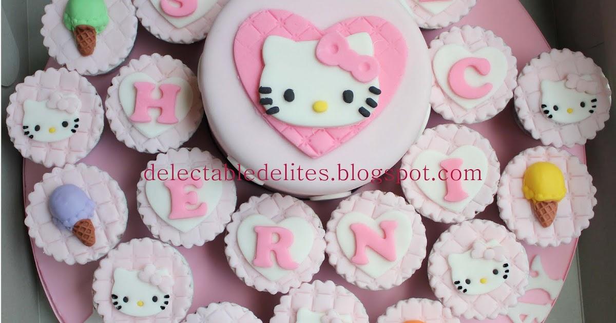 Delectable Delites: Hello Kitty cake + cupcake set
