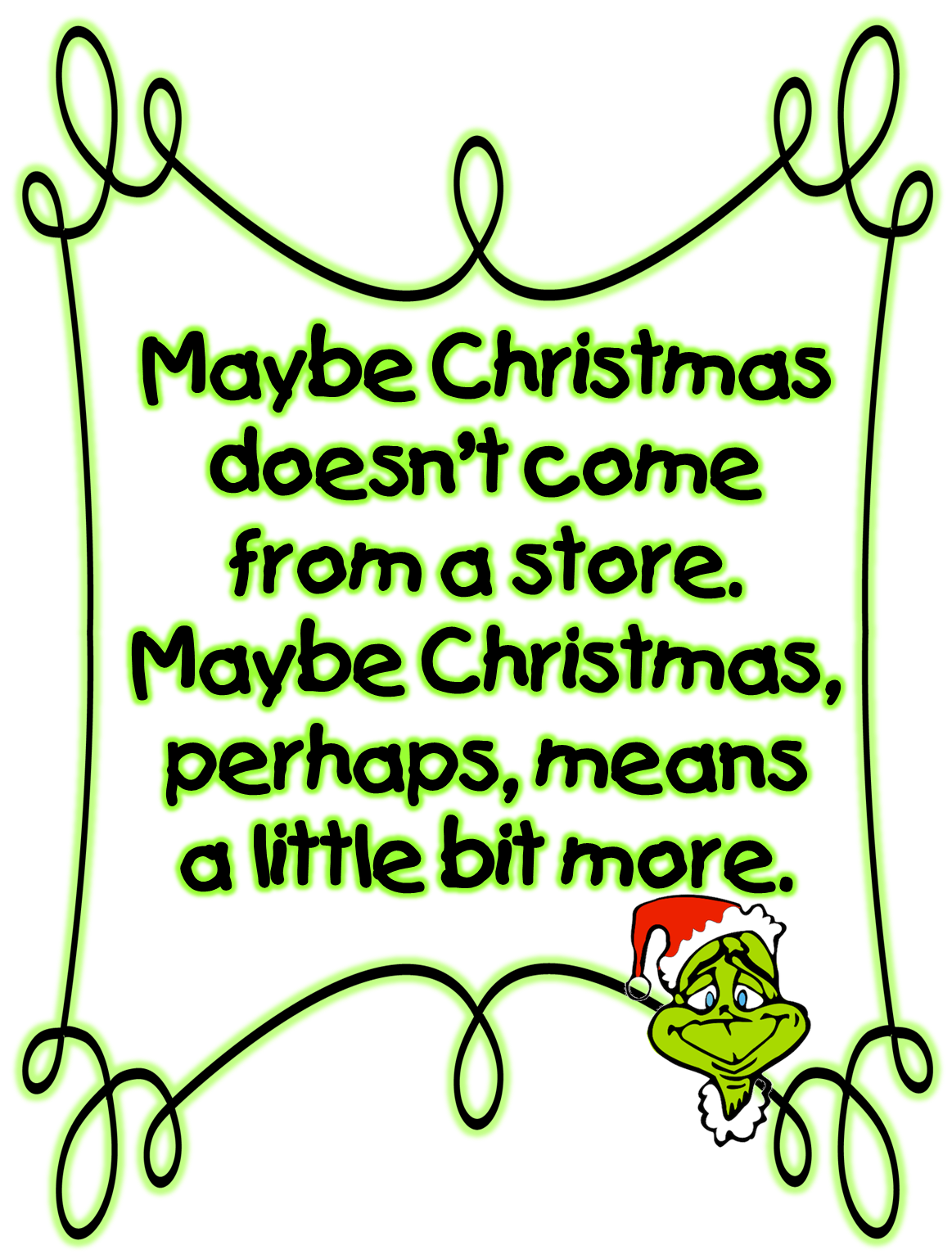 Grinch Clip Art http://firstgradewow.blogspot.com/2012/11/a-pinch-of-grinch-free-unit.html